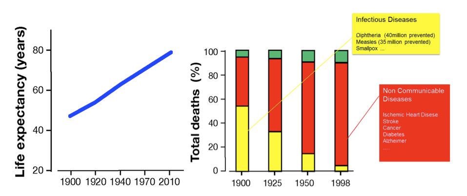 """Fonte: Rappuoli, R., M. Pizza, G. Del Giudice, and E. De Gregorio. 2014. """"Vaccines, new opportunities for a new society."""" Proc Natl Acad Sci U S A 111 (34):12288-93. doi: 10.1073/pnas.1402981111."""